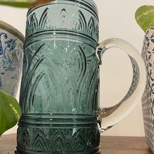 RETRO Blue glass jug
